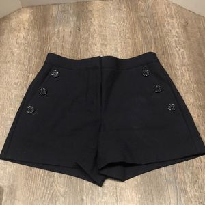 Ann Taylor Navy Blue Sailor Shorts size 0